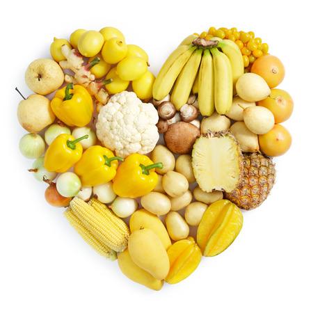 frutas verduras amarillo